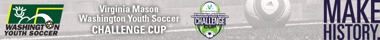 2014 Virginia Mason WA Youth Soccer Challenge Cup banner